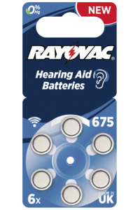 Obrázok pre RAYOVAC Acoustic Special 675 Hearing Aid Batteries 6 pcs
