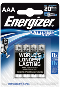 Obrázok pre 1x4 ENERGIZER Ultimate Lithium Micro AAA LR 03 1,5V