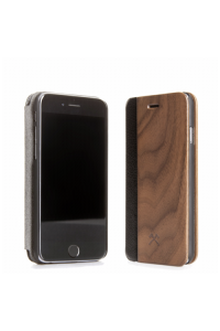 Obrázok pre Woodcessories EcoFlip Business iPhone 5 5s SE walnut+leather