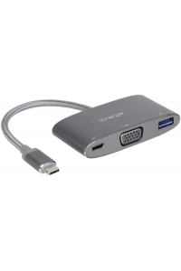 Obrázok pre Innergie MagiCable USB-C k VGA Multiport adapter sivy