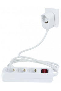Obrázok pre REV Multiple Socket Powersplit 2m 3+1-fold with switch white