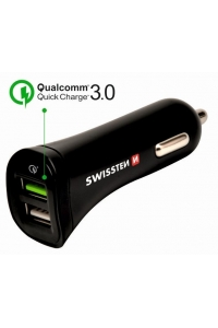 Obrázok pre Swissten CL Adapter Quick Charge 2x USB 2.4A Power + MicroUSB (1.5m)