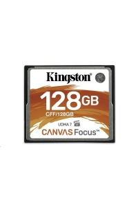 Obrázok pre Kingston 128GB CompactFlash Canvas Focus up to 150R/130W