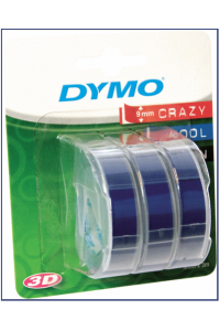 Obrázok pre 1x3 Dymo Embossing Labels 9mm blue