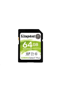 Obrázok pre Kingston 64GB SecureDigital Canvas Select Plus (SDXC) 100R Class 10 UHS-I