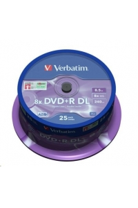 Obrázok pre VERBATIM DVD+R(25-pack) Double layer/8x/8.5GB/spindle