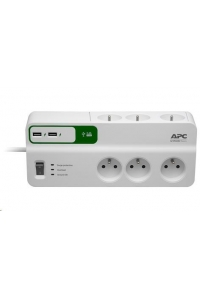 Obrázok pre APC Essential SurgeArrest 6 outlets with 5V, 2.4A 2 port USB charger, 230V France, 2m