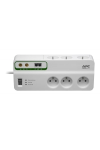 Obrázok pre APC Home/Office SurgeArrest 6 Outlets with Phone & Coax Protection 230V France, 3m