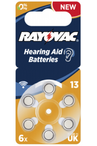 Obrázok pre RAYOVAC Acoustic Special 13 6pcs Hearing Aid Batteries