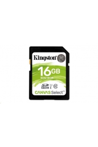 Obrázok pre Kingston 16GB SecureDigital Canvas Select (SDHC) Card, 80R Class 10 UHS-I